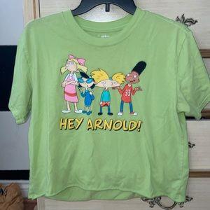 "Lime green ""hey arnold"" shirt 💚"